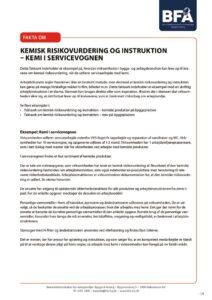 thumbnail of Faktaark om kemisk risikovurdering og instruktion – kemi i servicevognen