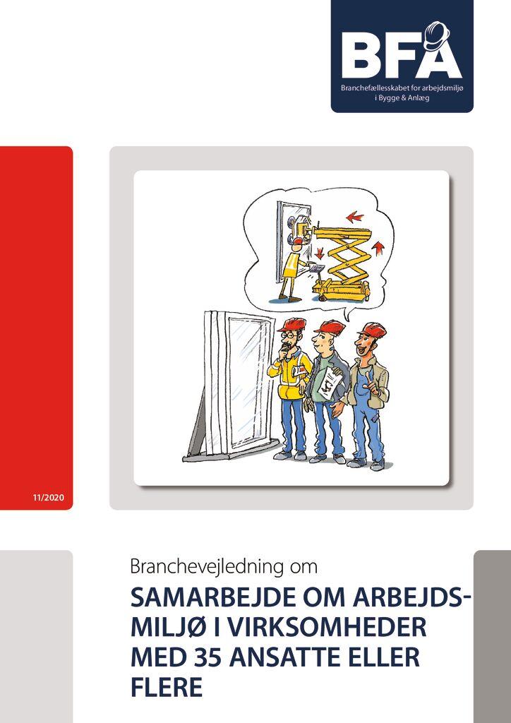 thumbnail of Samarbejde om arbejdsmiljø i virksomheder m. AMO (35 ansatte eller flere) – print