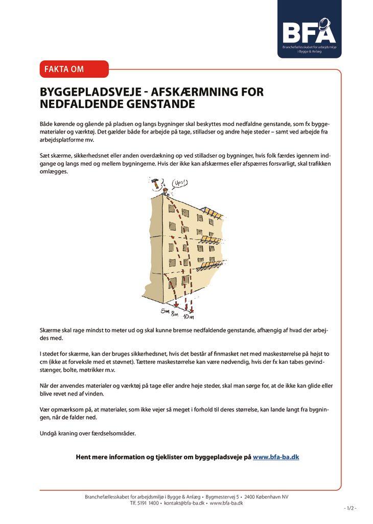 thumbnail of Fakta om byggepladsveje-afskærmning for nedfaldende genstande – print