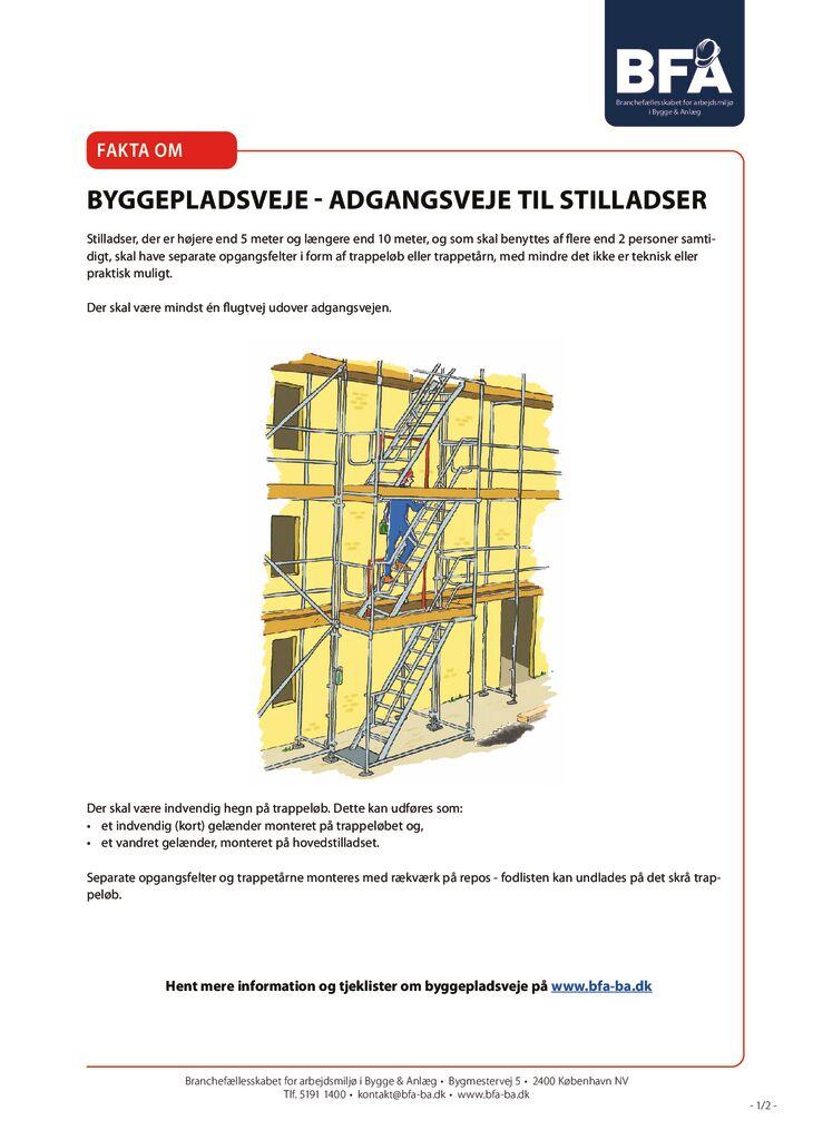 thumbnail of Fakta om byggepladsveje-adgangsveje til stilladser – print