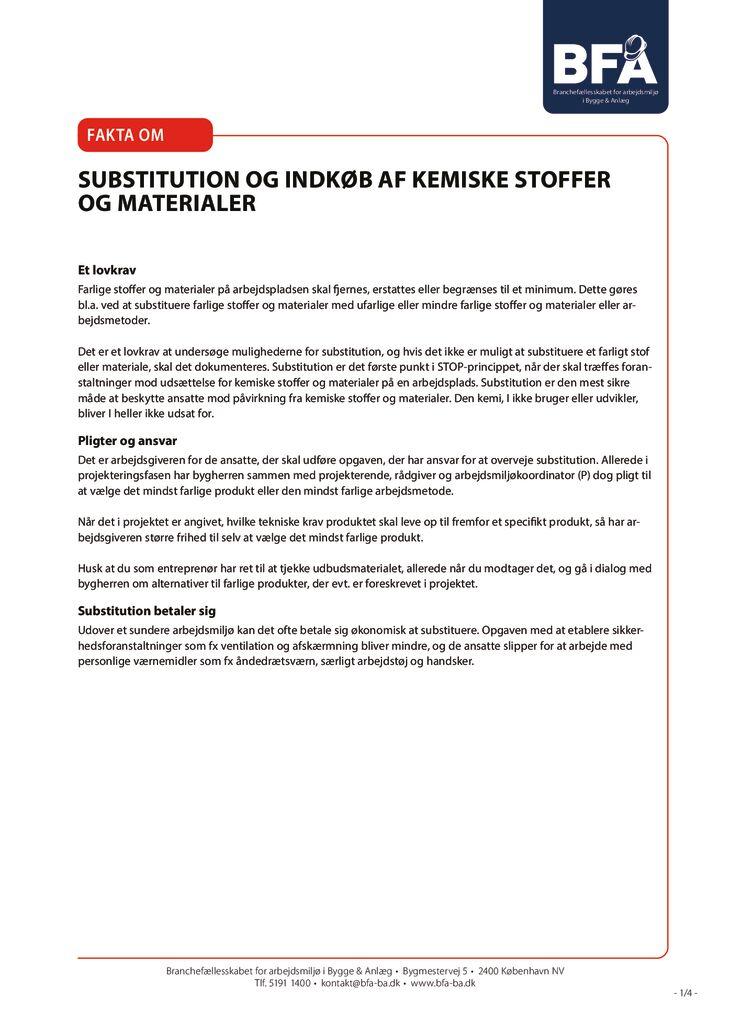 thumbnail of Substitution og indkøb af kemiske stoffer og materialer – print