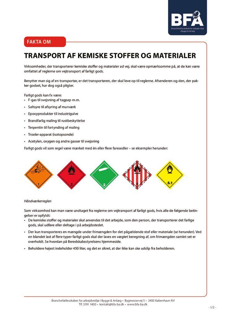thumbnail of Transport af kemiske stoffer og materialer – print